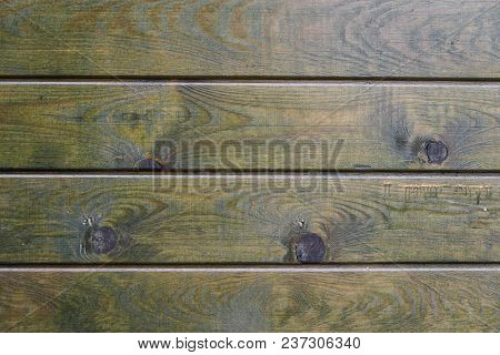 Green Wooden Texture As Background. Background From Old Boards.