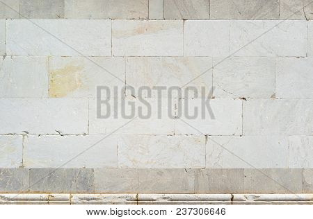 Ancient Medieval White Marble Wall As Background