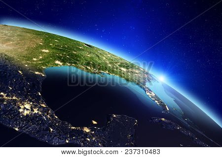 Planet Earth. Elements Of This Image Furnished By Nasa. 3d Rendering