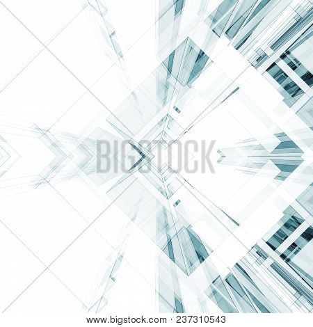 Abstract Architecture Background. Modern Concept 3d Rendering