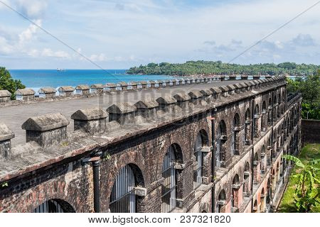 View Of Ross Island From The Infamous Cellular Jail Where Indian Political Leaders Where Confined To
