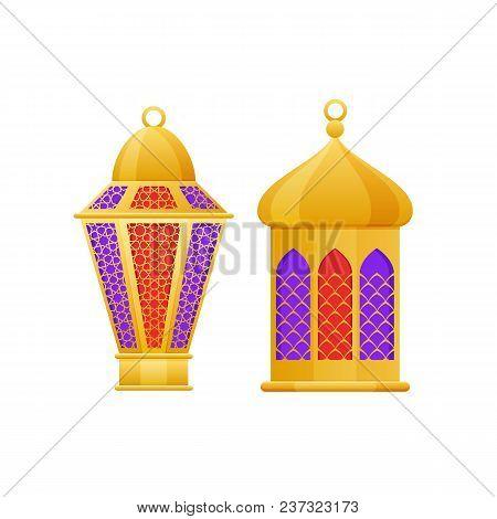 Beautiful Golden Light, Lamps, Night Lights, Used For Holidays Ramadan Kareem, Eid Al Adha, Mawlid A