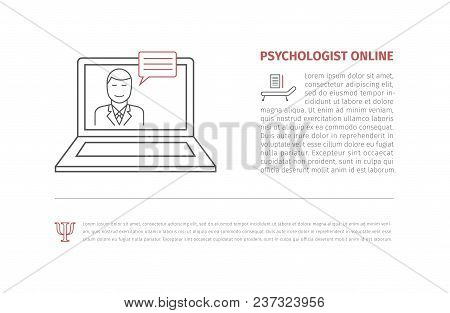 Online Medical Consultation And Support. Online Doctor. Vector Illustration