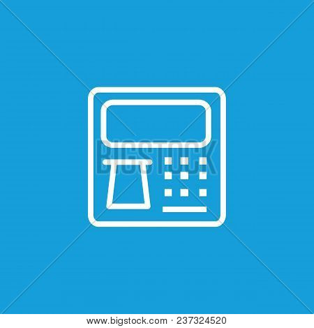 Icon Of Cash Machine With Bank Note Or Card. Money, Banking, Payment. Finance Concept. Can Be Used F