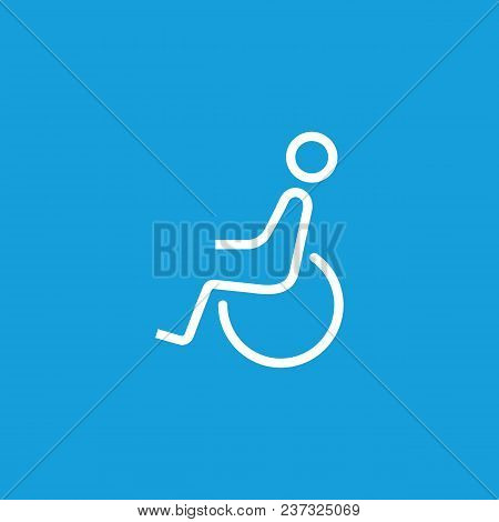 Line Icon Of Disabled Man Sign. Disabled Person Parking Sign, Restroom Sign, Seat For Disabled. Disa