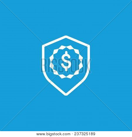 Icon Of Dollar Shield. Finance, Money. Security. Financial Safety Concept. Can Be Used For Topics Li