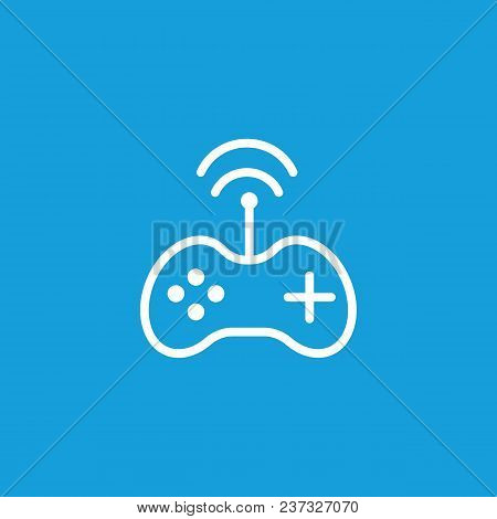 Icon Of Game Controller. Joystick Wireless Connection, Gamepad. Wireless Technology Concept. Can Be