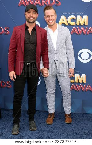 LAS VEGAS - APR 15:  Cody Alan, Michael Trea at the Academy of Country Music Awards 2018 at MGM Grand Garden Arena on April 15, 2018 in Las Vegas, NV