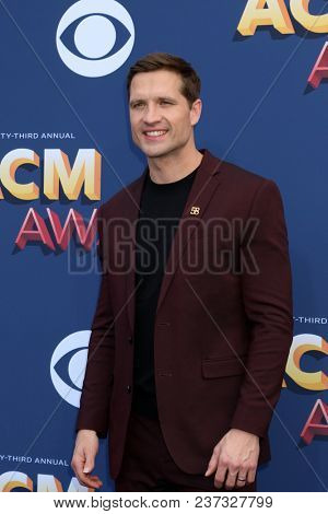 LAS VEGAS - APR 15:  Walker Hayes at the Academy of Country Music Awards 2018 at MGM Grand Garden Arena on April 15, 2018 in Las Vegas, NV