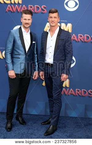 LAS VEGAS - APR 15:  Curtis Rempel, Brad Rempel, High Valley at the Academy of Country Music Awards 2018 at MGM Grand Garden Arena on April 15, 2018 in Las Vegas, NV