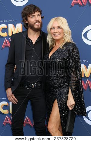 LAS VEGAS - APR 15:  Chris Janson, Kelly Lynn at the Academy of Country Music Awards 2018 at MGM Grand Garden Arena on April 15, 2018 in Las Vegas, NV
