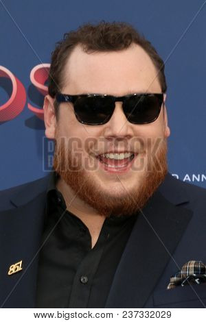 LAS VEGAS - APR 15:  Luke Combs at the Academy of Country Music Awards 2018 at MGM Grand Garden Arena on April 15, 2018 in Las Vegas, NV