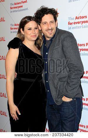 LOS ANGELES - APR 19:  Katie Lowes, Adam Shapiro at the The Actors Fund's