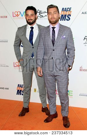 LOS ANGELES - APR 20:  Michael Turchin, Lance Bass at the 25th Annual Race To Erase MS Gala on the Beverly Hilton Hotel on April 20, 2018 in Beverly Hills, CA