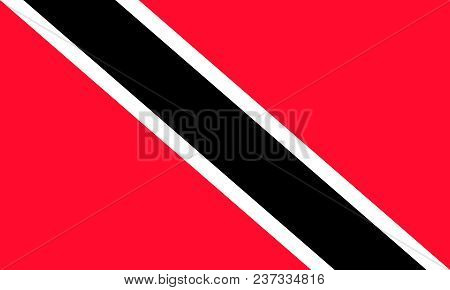 The Flag Of Trinidad And Tobago. National Symbol Of The State. Vector Illustration.