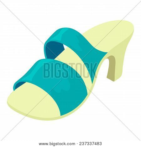 Summer Shoe Icon. Isometric Illustration Of Summer Shoe Vector Icon For Web
