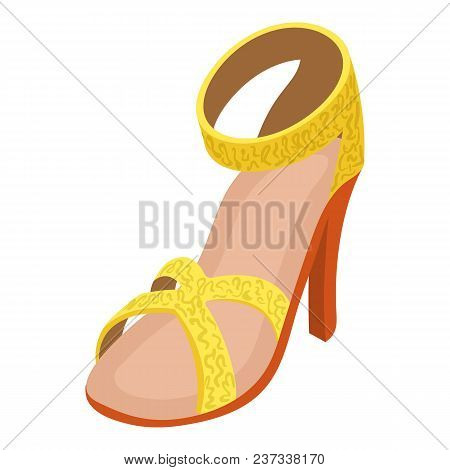 Sandal Icon. Isometric Illustration Of Sandal Vector Icon For Web