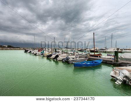 The Port Of Bocca Di Magra, Located Between The Sea And The Mouth Of The River Magra, Gulf Of La Spe