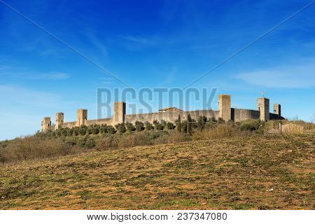 The fortified town of Monteriggioni. Ancient medieval village near Siena - Toscana (Tuscany) - Italy - Europe poster