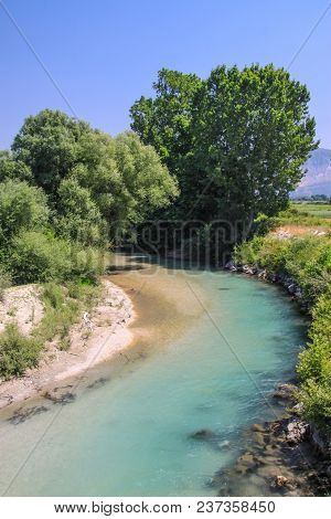 Small And Winding River In The Preveza Area. Greece