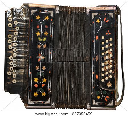 Ancient Russian Harmonic On A White Background. Russia