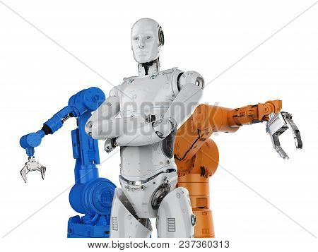 Cyborg With Robot