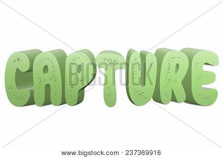 Capture Text For Title Or Headline In 3d Style With Small Holes In The Letters