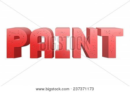 Paint Text For Title Or Headline In 3d Style With Small Holes In The Letters