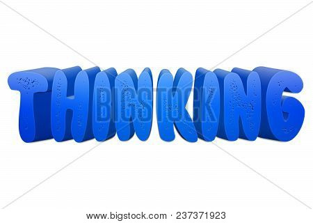 Thinking Text For Title Or Headline In 3d Style With Small Holes In The Letters