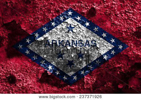 Arkansas State Grunge Flag, United States Of America