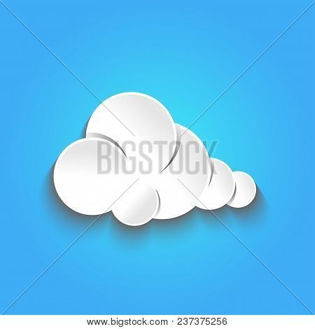 Vector Illustration Of Clouds.clouds Icon Template. Clouds Background.clouds Shape.