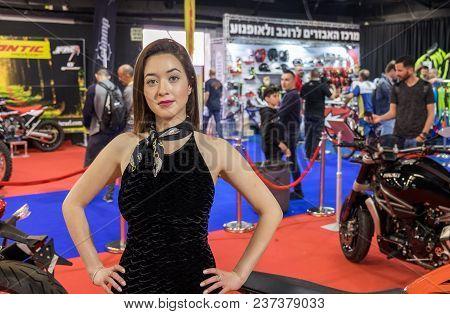 Undefined Beautiful Promotion Girl At Tel-aviv Motor Show. Israel