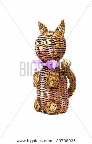 Decorative cat isolated on white