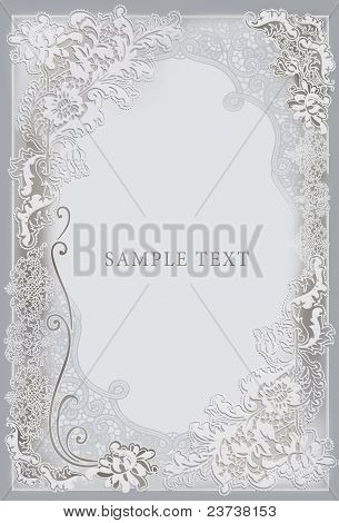 Wedding invitation, frame