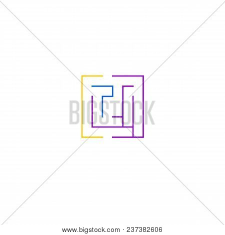 Simple Maze Icon. Brain Teaser Logotype Design Illustration