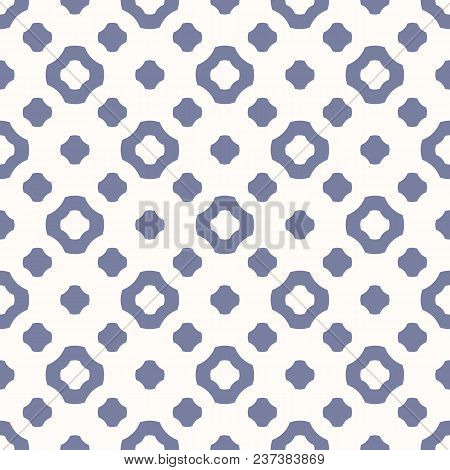Cute Vintage Seamless Pattern In Trendy Pastel Colors, Blue Serenity And White Beige. Abstract Geome