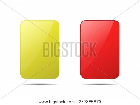 Yellow And Red Cards. Penalty Cards, Means Of Warning, Reprimanding Or Penalising A Player, Coach Or