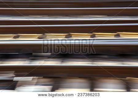 Blured railroad background