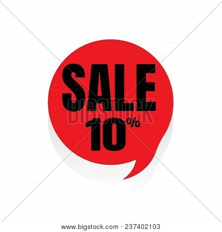 Special Offer Sale Red Tag Vector Illustration. Discount Offer Price Label, Symbol For Advertising C
