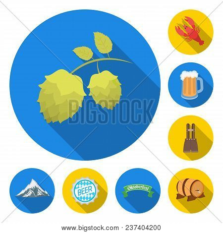 October Festival In Munich Flat Icons In Set Collection For Design.tradition And Fun Vector Symbol S