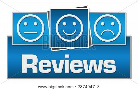 Reviews Concept Image With Text And Related Symbols.