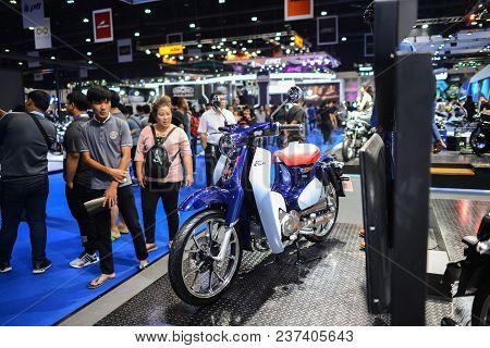Bangkok, Thailand - April 03, 2018 : Honda Super Cub C125 At Honda  Exhibition Booth At Bangkok Moto