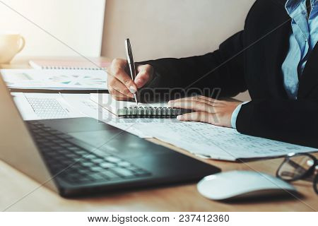Accountant Working In Office. Concept Finance And Accounting