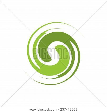 Abstract Circle Swirl Vector Element. Swirl Template. Vector Eps 10