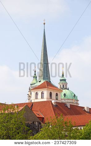 Czech Republic, Prague - Church Spires Of Lesser Quarter