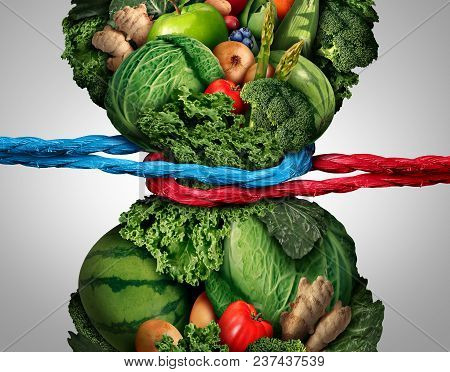 Vegetarian Struggle And Vegan Eating Habits Or Nutrition Challenge As A Healthy Fresh Food Dieting C
