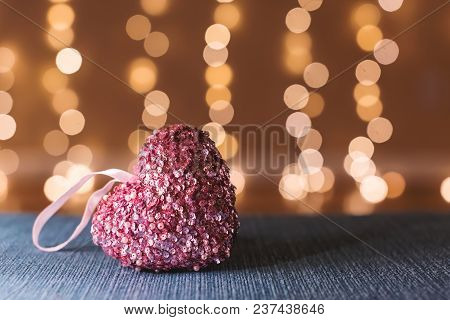 Heart Shaped Decoration Over Abstract Light Background
