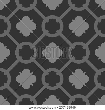 Tile Black Decorative Floor Tiles Vector Pattern Or Seamless Background