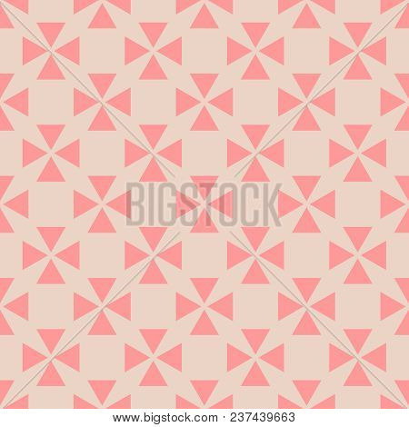Tile Vector Pattern With Orange Background For Seamless Decoration Wallpaper