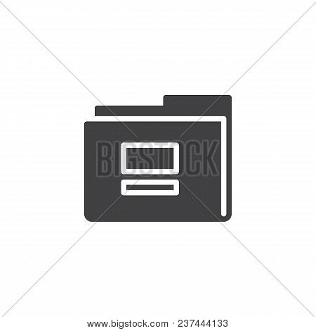 Folder Vector Icon. Filled Flat Sign For Mobile Concept And Web Design. Empty Folder Simple Solid Ic